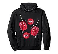 Yo-yo Shirt Yoyo Ball T-shirt Gift Hoodie Black
