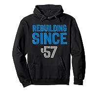 Gift Detroit Football Tshirts- Rebuilding Since 57 Hoodie Black