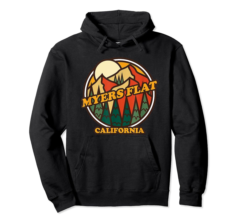 Vintage Myers Flat California Mountain Hiking Souvenir Print T-shirt Unisex Pullover Hoodie