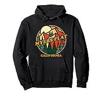 Vintage Myers Flat California Mountain Hiking Souvenir Print T-shirt Hoodie Black