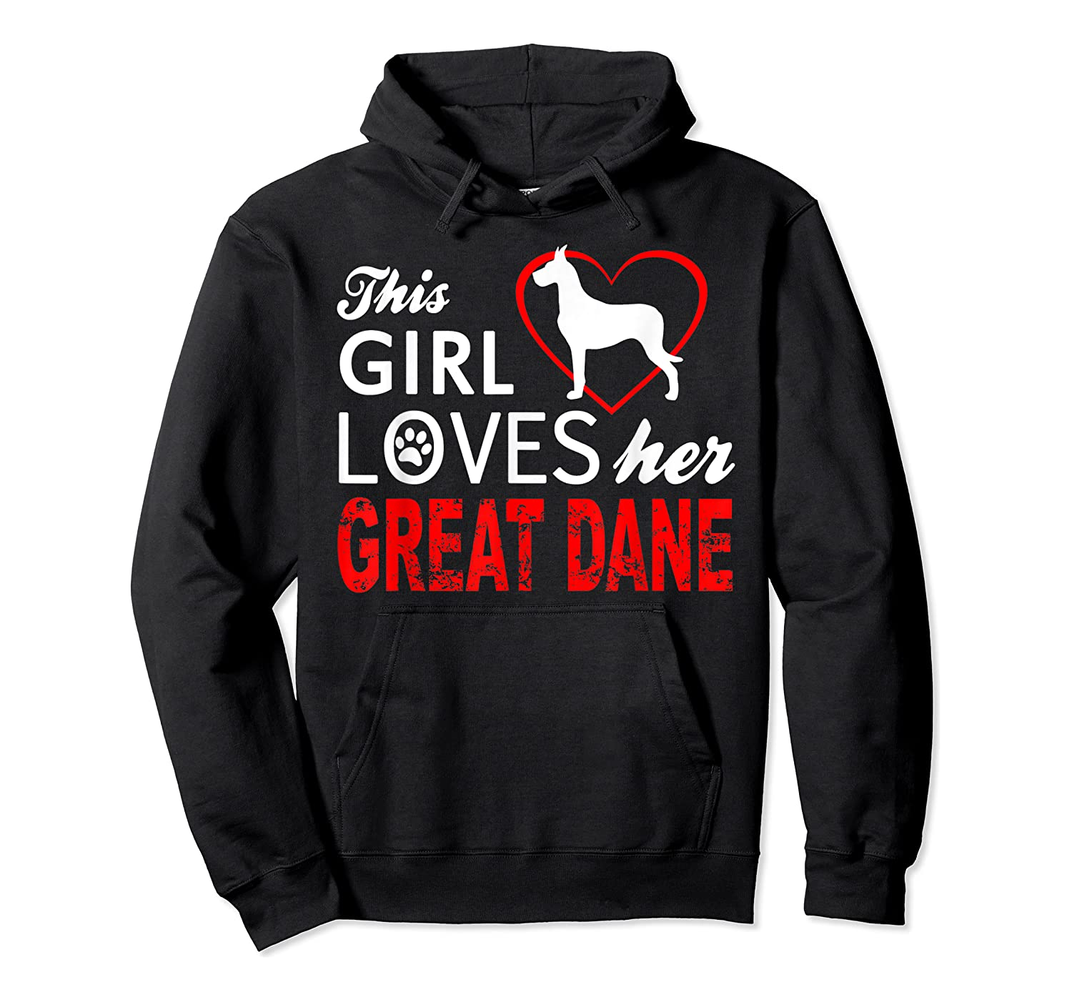 Cute This Girl Loves Her Great Dane Dog Lover T-shirt Unisex Pullover Hoodie