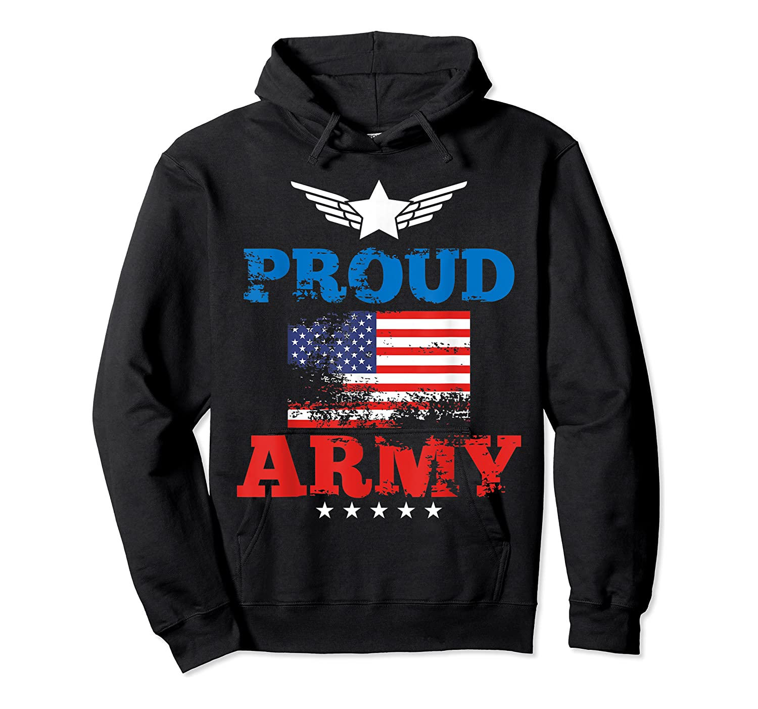 Proud Army American Soldier Air Flag Honor Gift T-shirt Unisex Pullover Hoodie