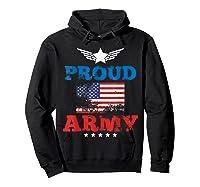 Proud Army American Soldier Air Flag Honor Gift T-shirt Hoodie Black