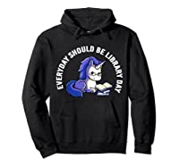 Cute Unicorn Reading Book Librarian Lover Library 2019 Shirt Hoodie Black