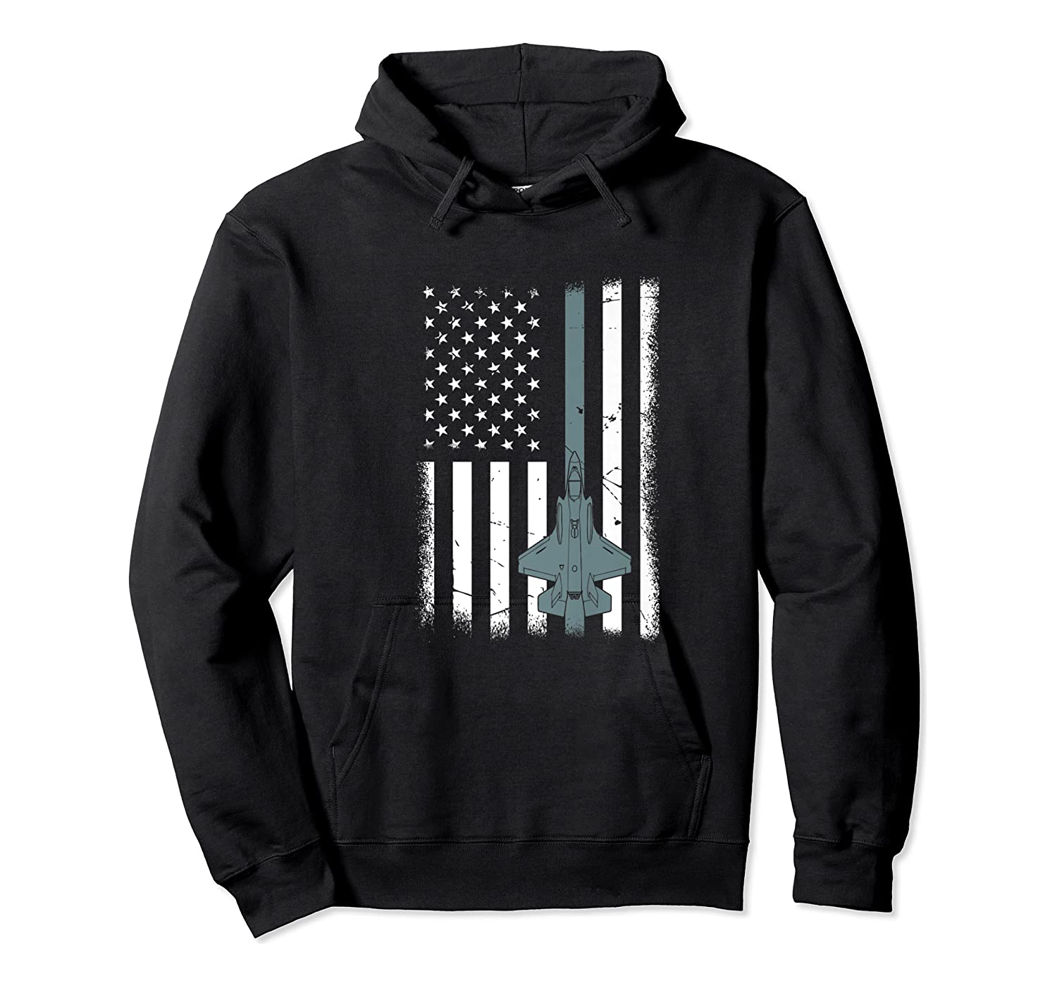United States F35 Fighter Jet American Flag Veteran Shirts Unisex Pullover Hoodie