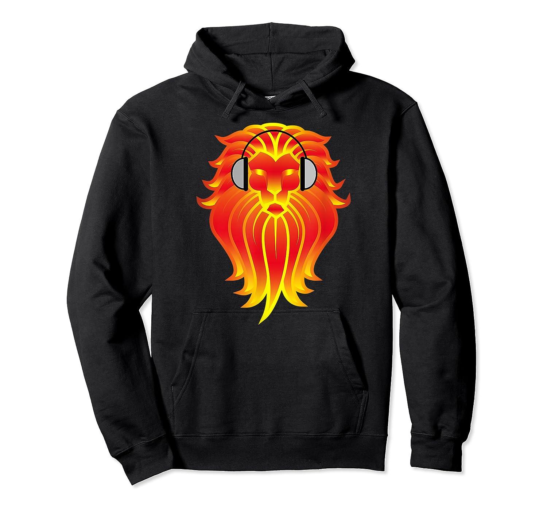 Lion Head Golden Head Phones Shirts Unisex Pullover Hoodie