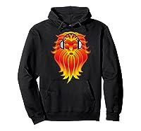 Lion Head Golden Head Phones Shirts Hoodie Black