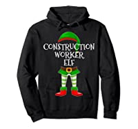 Construction Worker Elf Matching Family Christmas Design Shirts Hoodie Black