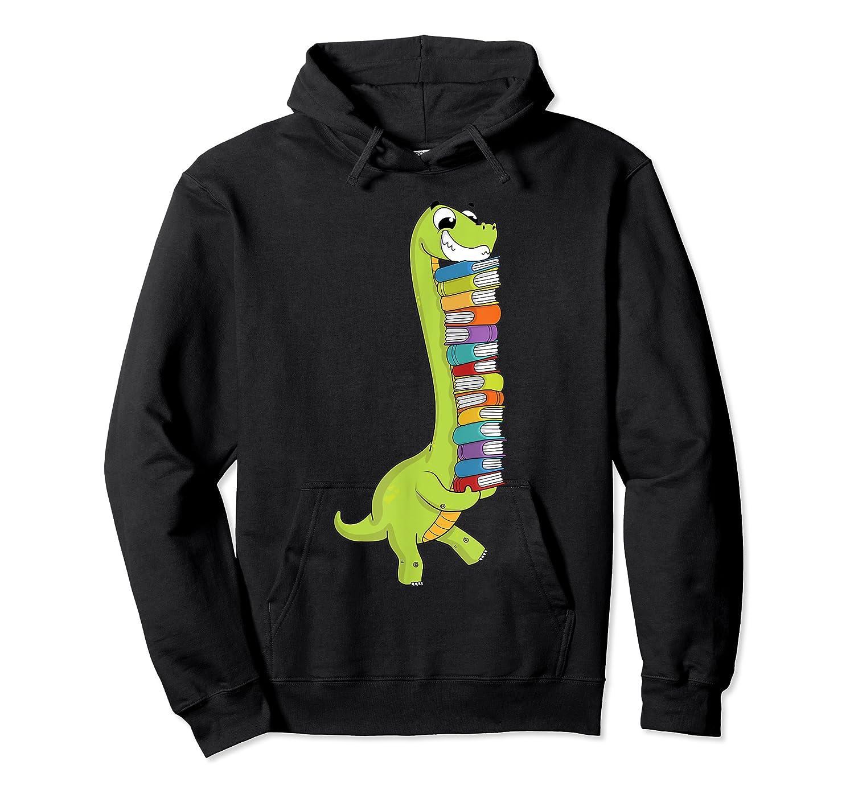 Teasaurus Dinosaur Tea Dino Reading Book Shirts Unisex Pullover Hoodie