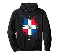 Dominican Republic Flag Inside Dominicana Republica Pride Shirts Hoodie Black