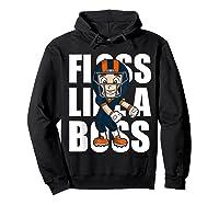Floss Like A Boss Football Shirts Hoodie Black