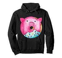 Donut Pig Shirts Hoodie Black