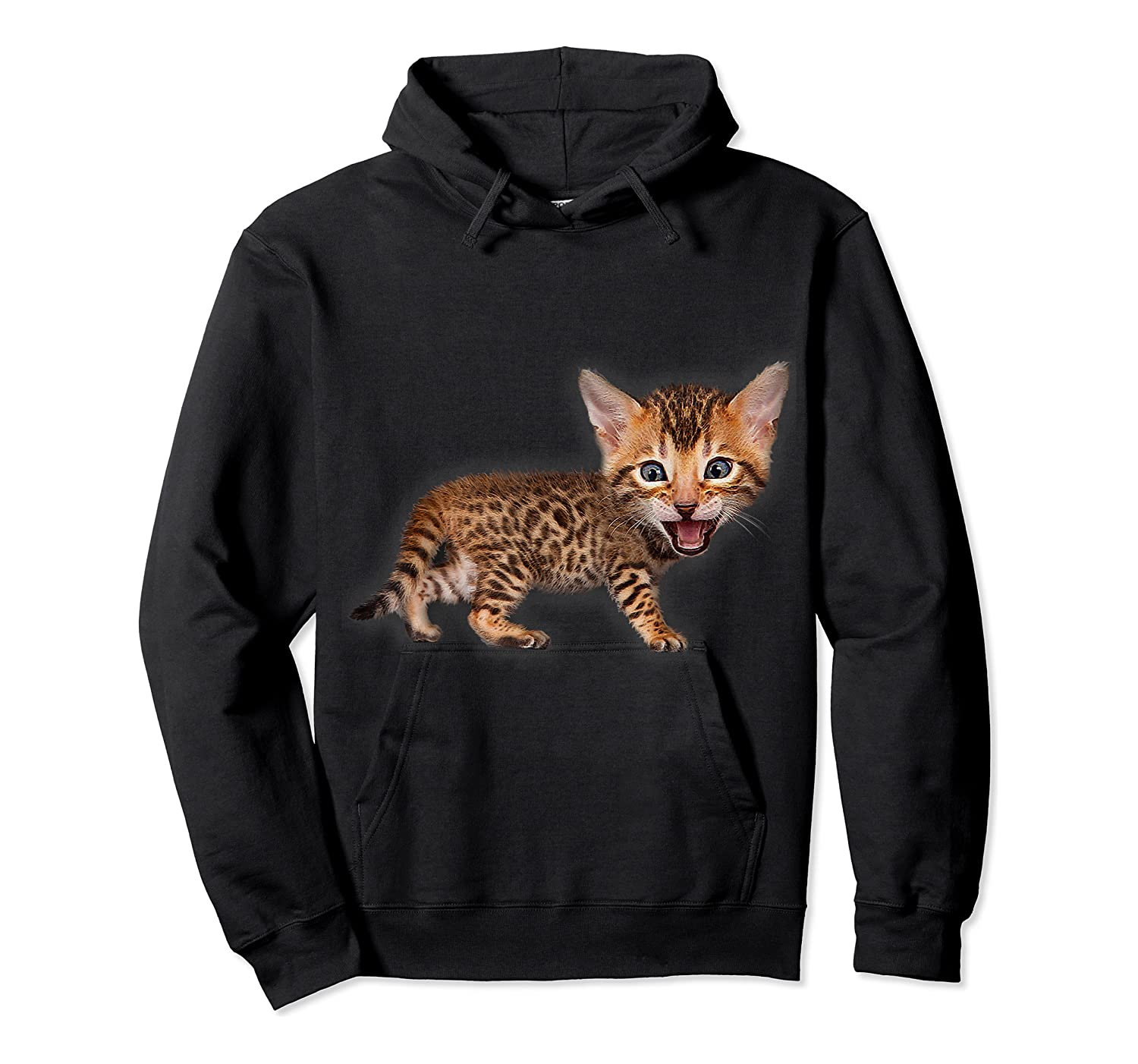 Cat Caricature - Funny Domestic Bengal Cat Kitten Tshirt Unisex Pullover Hoodie