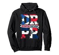 Dominirican Puerto Rico And Republica Dominicana Pride Shirts Hoodie Black