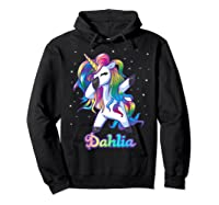 Name Rainbow Unicorn Dabbing Shirts Hoodie Black