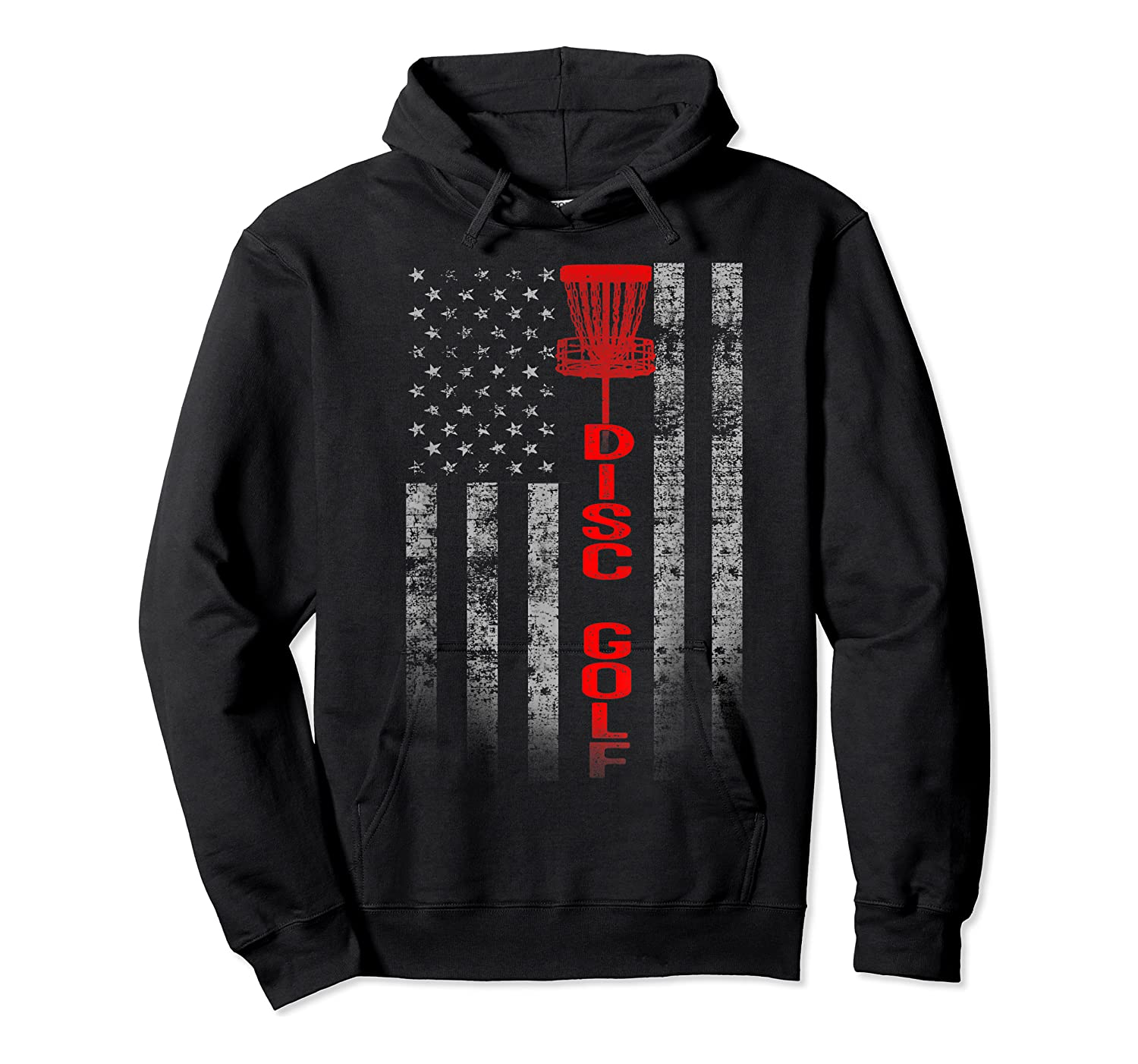 Disc Golf Basket Flag Design Gift For Disc Golfers Shirts Unisex Pullover Hoodie