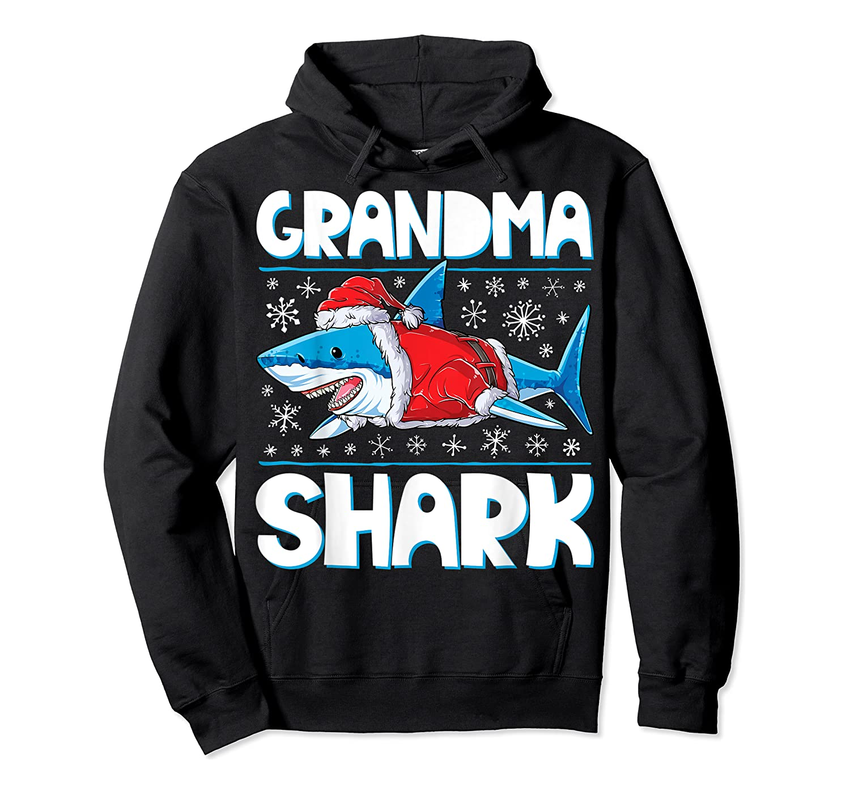 Grandma Shark Santa Christmas Family Matching S Shirts Unisex Pullover Hoodie