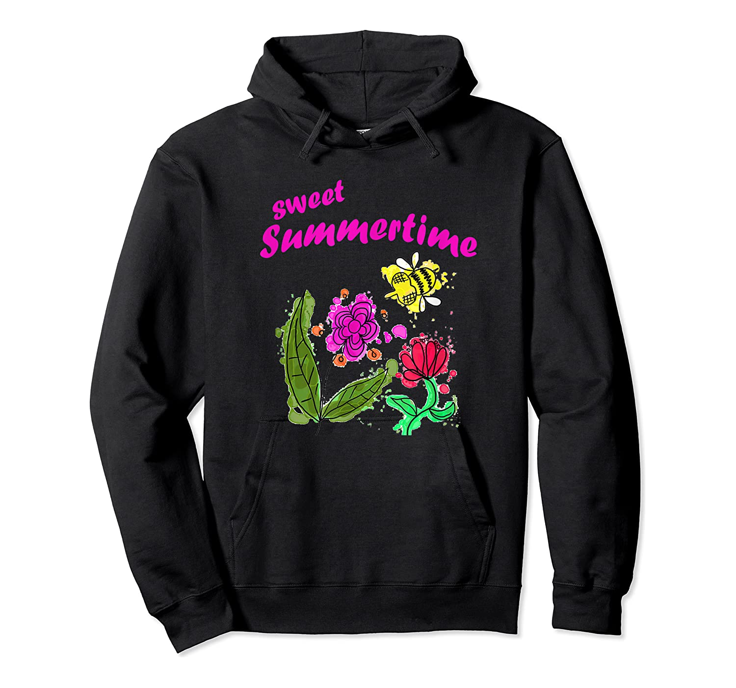 Sunshine, Flowers And Honey Bees Shirts Unisex Pullover Hoodie