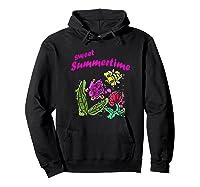 Sunshine, Flowers And Honey Bees Shirts Hoodie Black
