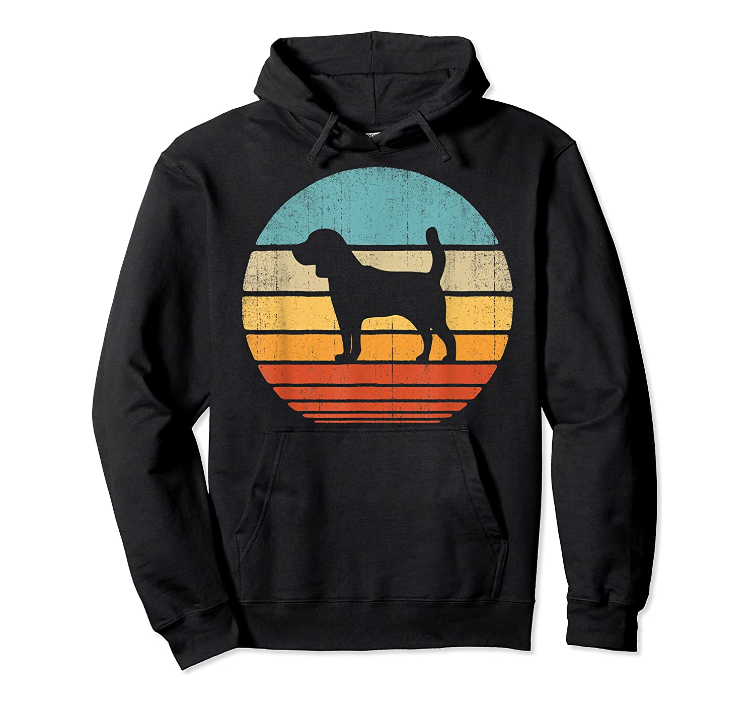 Beagle Retro Vintage Style 60s 70s Gifts Dog Lover Shirts Unisex Pullover Hoodie