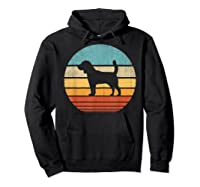 Beagle Retro Vintage Style 60s 70s Gifts Dog Lover Shirts Hoodie Black
