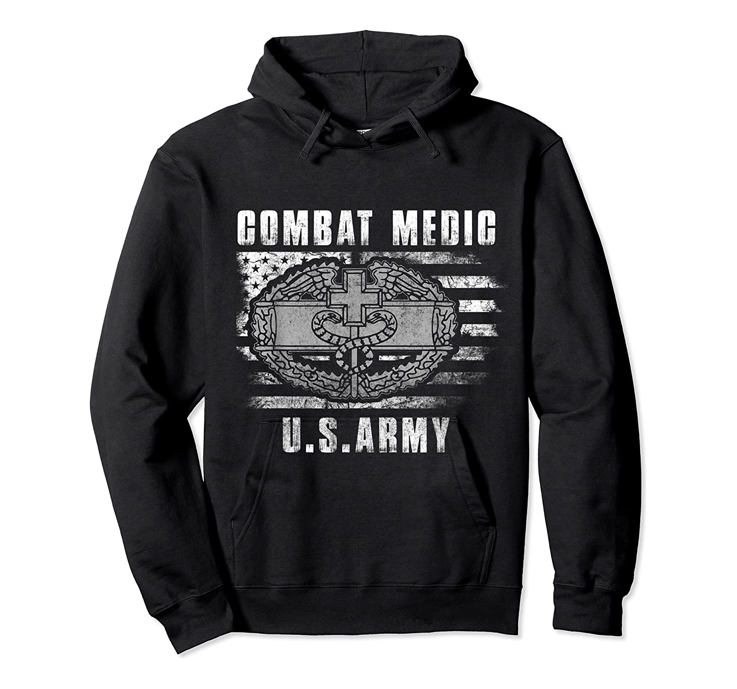 Combat Medic Us Army Flag America 4th July Shirts Unisex Pullover Hoodie