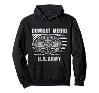 Combat Medic Us Army Flag America 4th July Shirts Hoodie Black