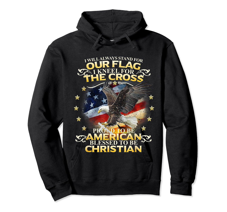 Christian Patriotic American Flag Shirts Unisex Pullover Hoodie