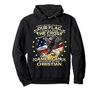 Christian Patriotic American Flag Shirts Hoodie Black