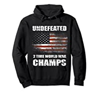 Undeted 2 Time World War T Shirt 4th Of July Shirts Gifts T-shirt Hoodie Black