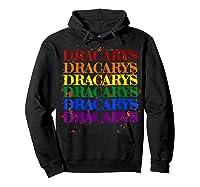 Dracarys Dragon Lovers Rainbow Lgbt Flag Gay Pride Lesbian T-shirt Hoodie Black