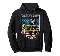 Worlds Best Rottweiler Grandpa Shirts Hoodie Black