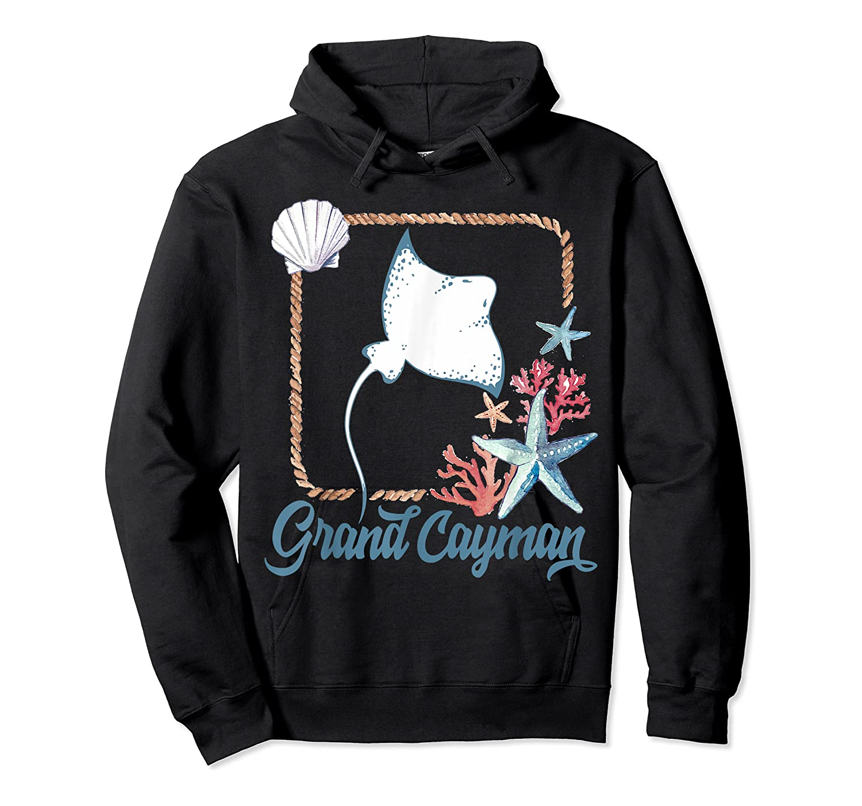 Grand Cayman Islands Turtle Tuna Stingray Blue Souvenir Gift T-shirt Unisex Pullover Hoodie