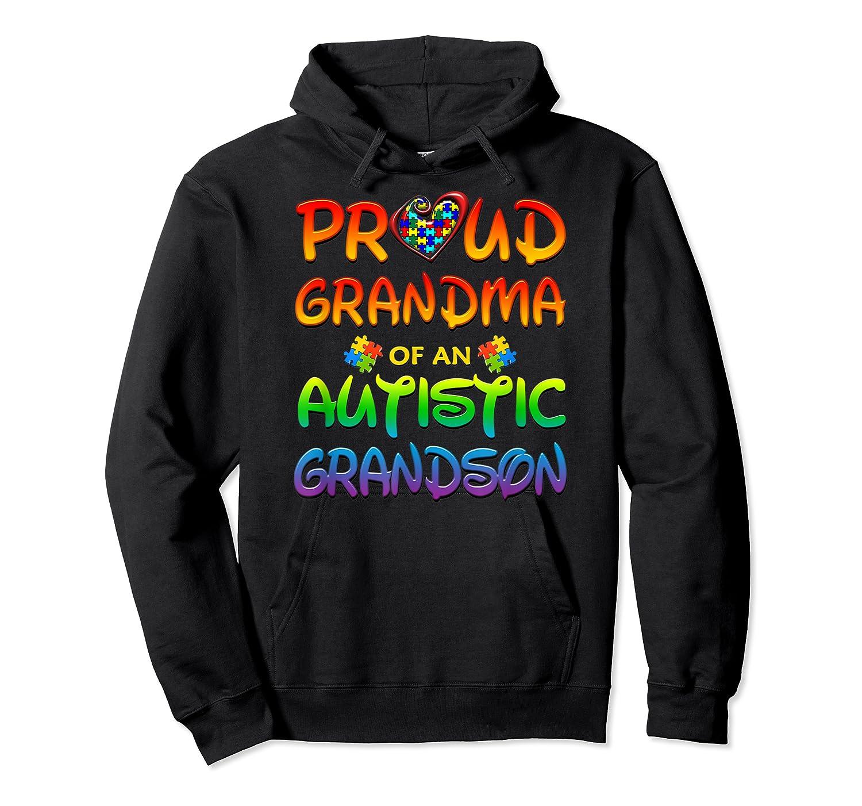 Autism Awareness Proud Grandma Of Autistic Grandson Shirts Unisex Pullover Hoodie