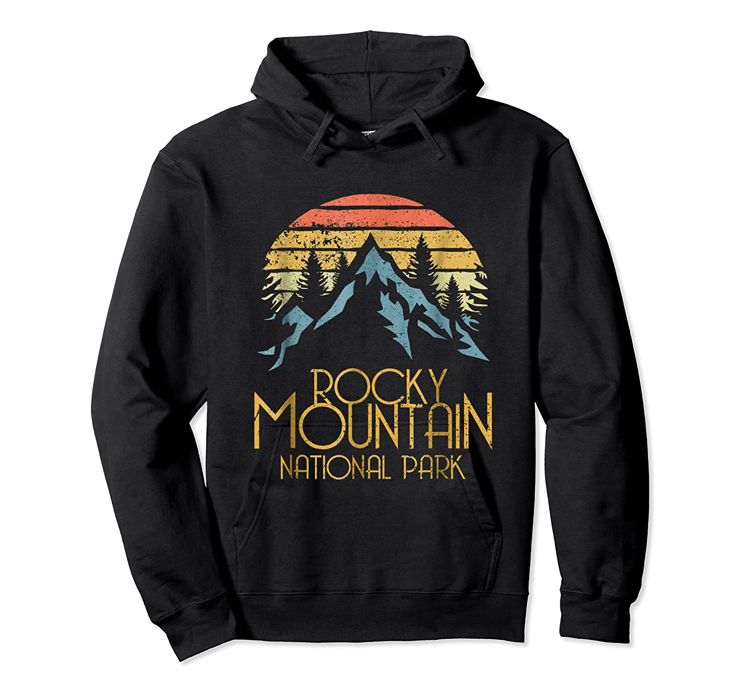 Vintage Rocky Mountains National Park Colorado Retro Shirts Unisex Pullover Hoodie