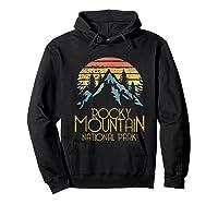 Vintage Rocky Mountains National Park Colorado Retro Shirts Hoodie Black