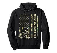 Mountain Biking Dad Camouflage American Flag Fathers Day Shirts Hoodie Black