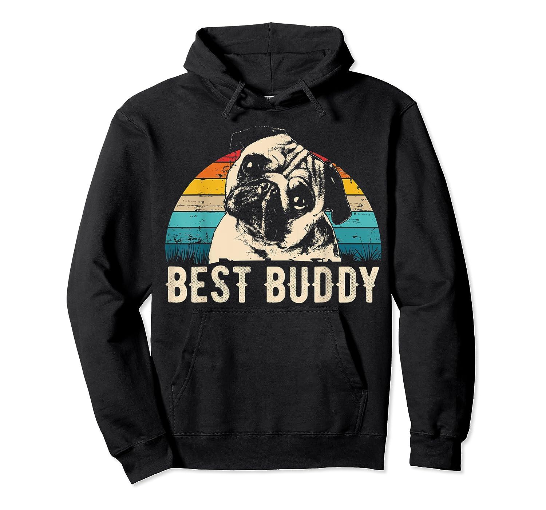 Retro Pug Gift Shirts Unisex Pullover Hoodie