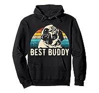 Retro Pug Gift Shirts Hoodie Black
