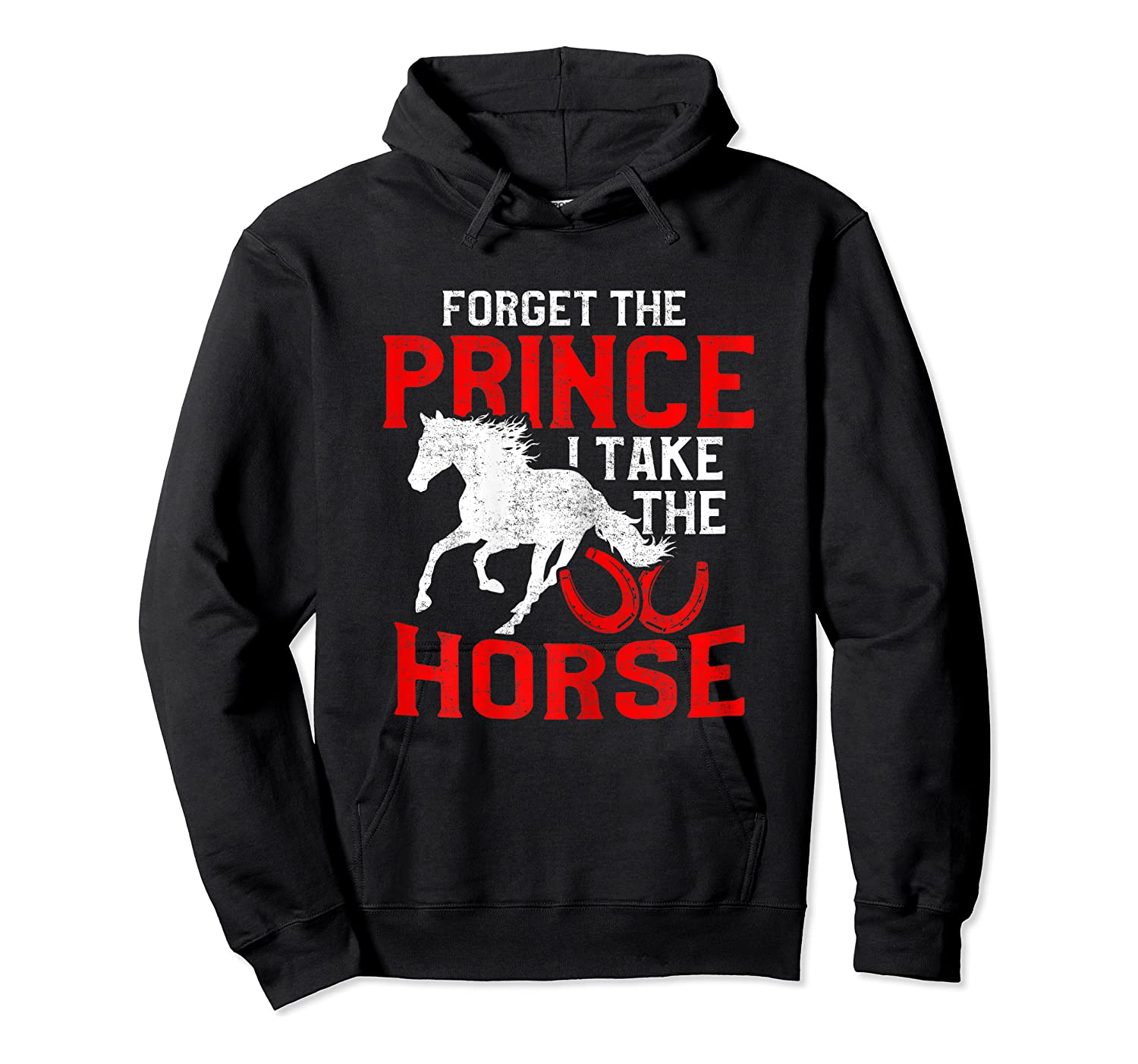 Rider Prefers Horses Shirts Unisex Pullover Hoodie