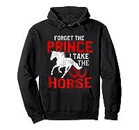 Rider Prefers Horses Shirts Hoodie Black
