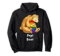 Papi Bear Proud Dad Lgbt Gay Pride Lgbt Dad Gifts Shirts Hoodie Black