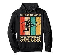 Retro Vintage Soccer Design 1970s T-shirt Hoodie Black