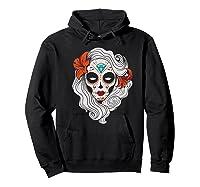 Sugar Skull Dia De Los Muertos Halloween Horror Premium T-shirt Hoodie Black