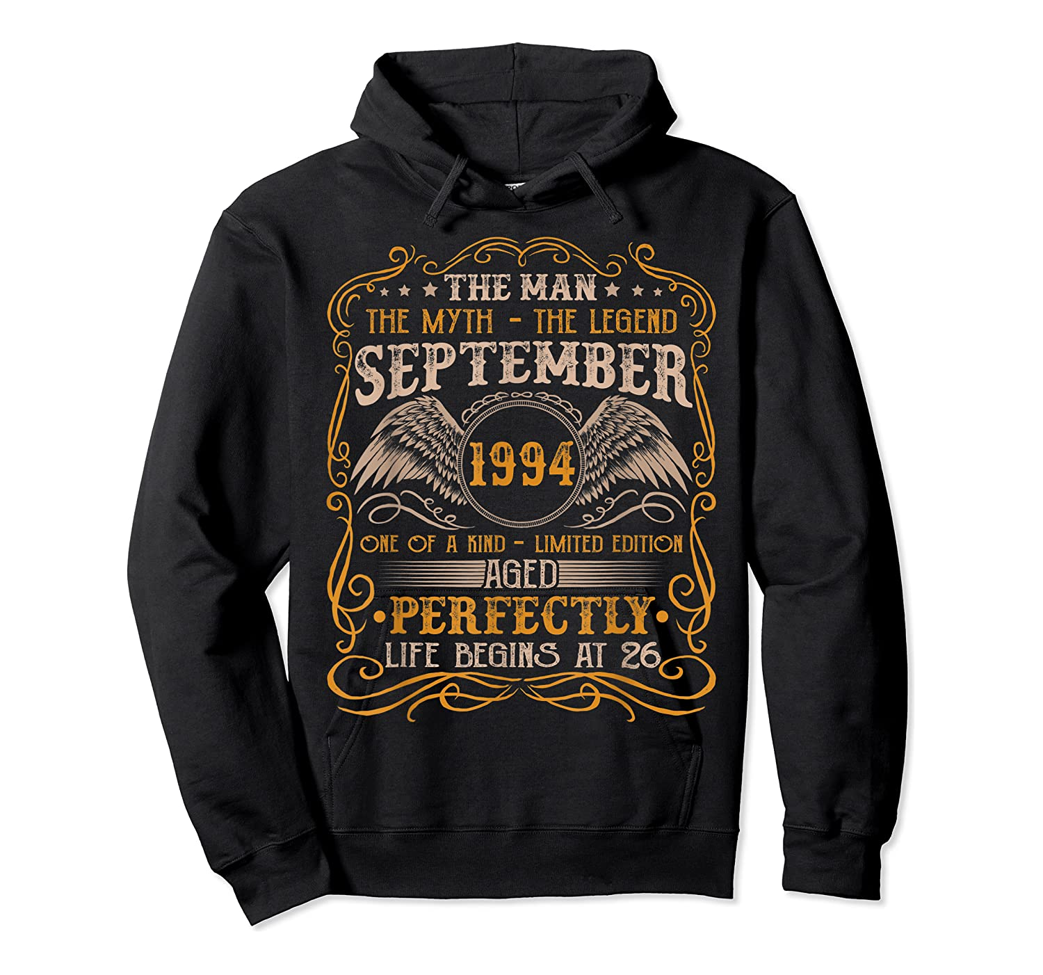 September 1994 Man Myth Legend 26th Birthday 26 Years Old Shirts Unisex Pullover Hoodie
