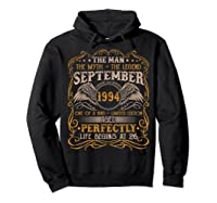September 1994 Man Myth Legend 26th Birthday 26 Years Old Shirts Hoodie Black