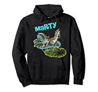 Madagascar Marty Painted Grass Poster Premium T-shirt Hoodie Black
