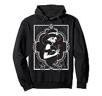 Disney Aladdin Jasmine Ornate Frame Rose Graphic T-shirt Hoodie Black