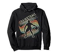 Vintage Retro Basketball Shirt Colorful Tshirt Hoodie Black