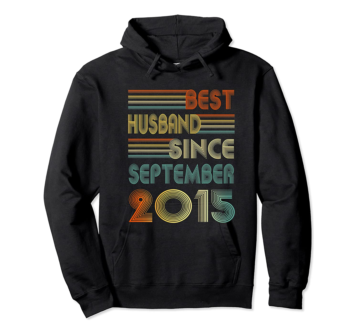 5th Wedding Anniversary Gift Husband Since September 2015 Shirts Unisex Pullover Hoodie